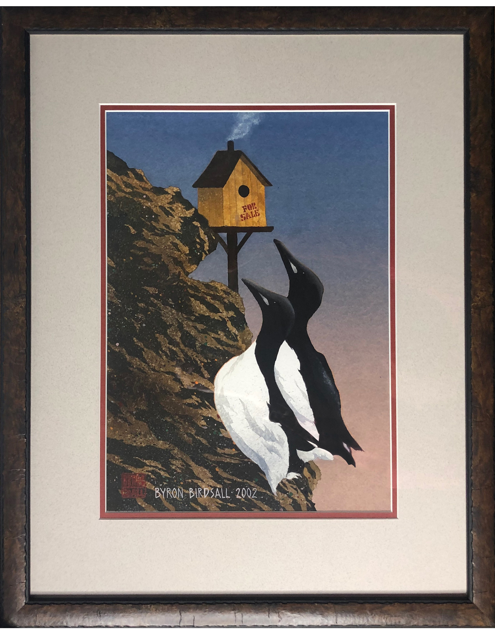 Byron Birdsall Mr. and Mrs. Murre (framed original) | Byron Birdsall