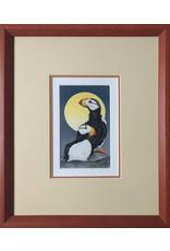 Courtenay Birdsall-Clifford Puffin Pair (framed original) | Courtenay Birdsall-Cilfford