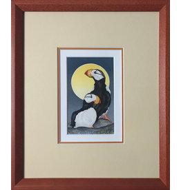 Courtenay Birdsall-Clifford Puffin Pair (framed original)