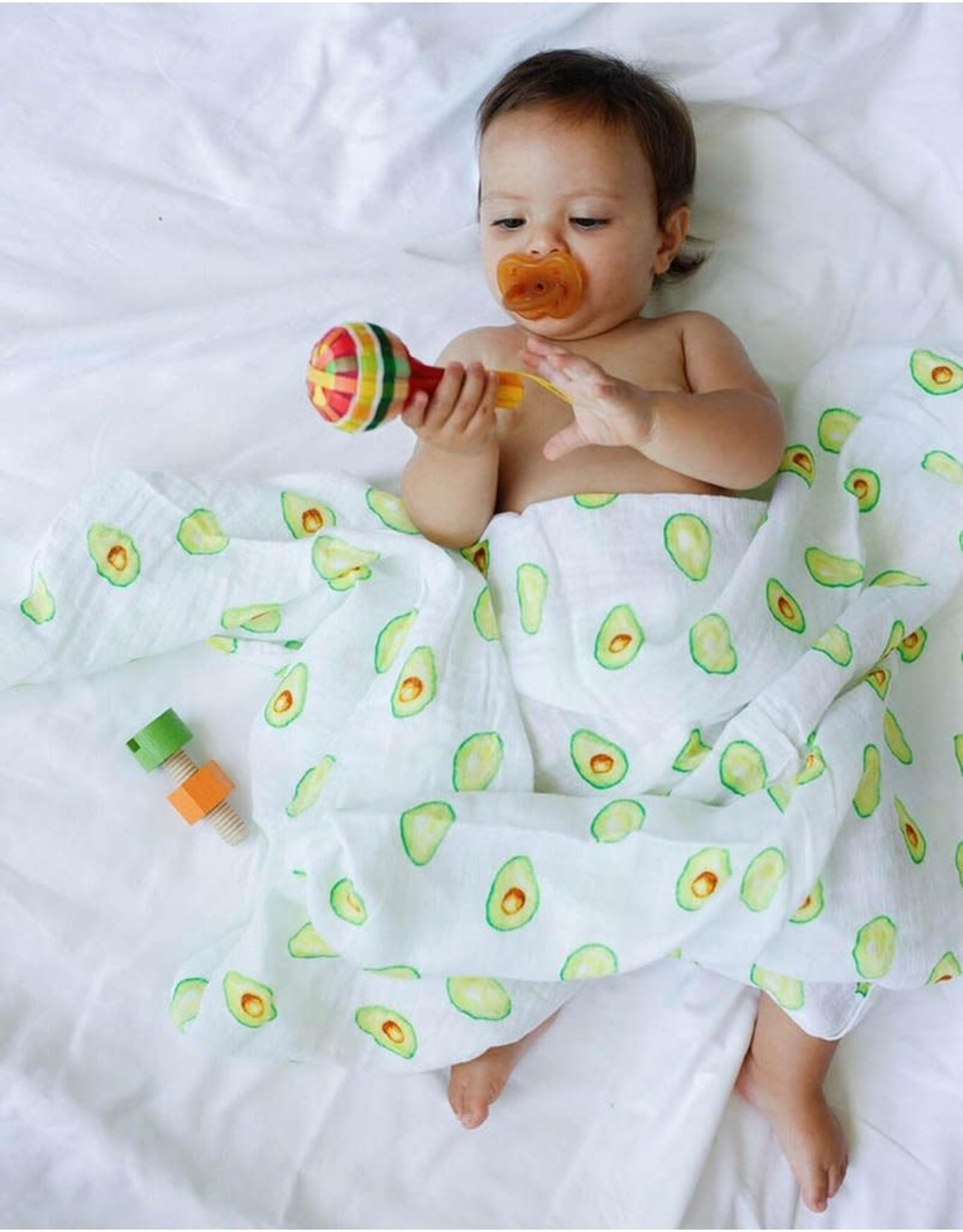 Malabar Baby Organic Muslin Swaddle (avocado) | Malabar Baby