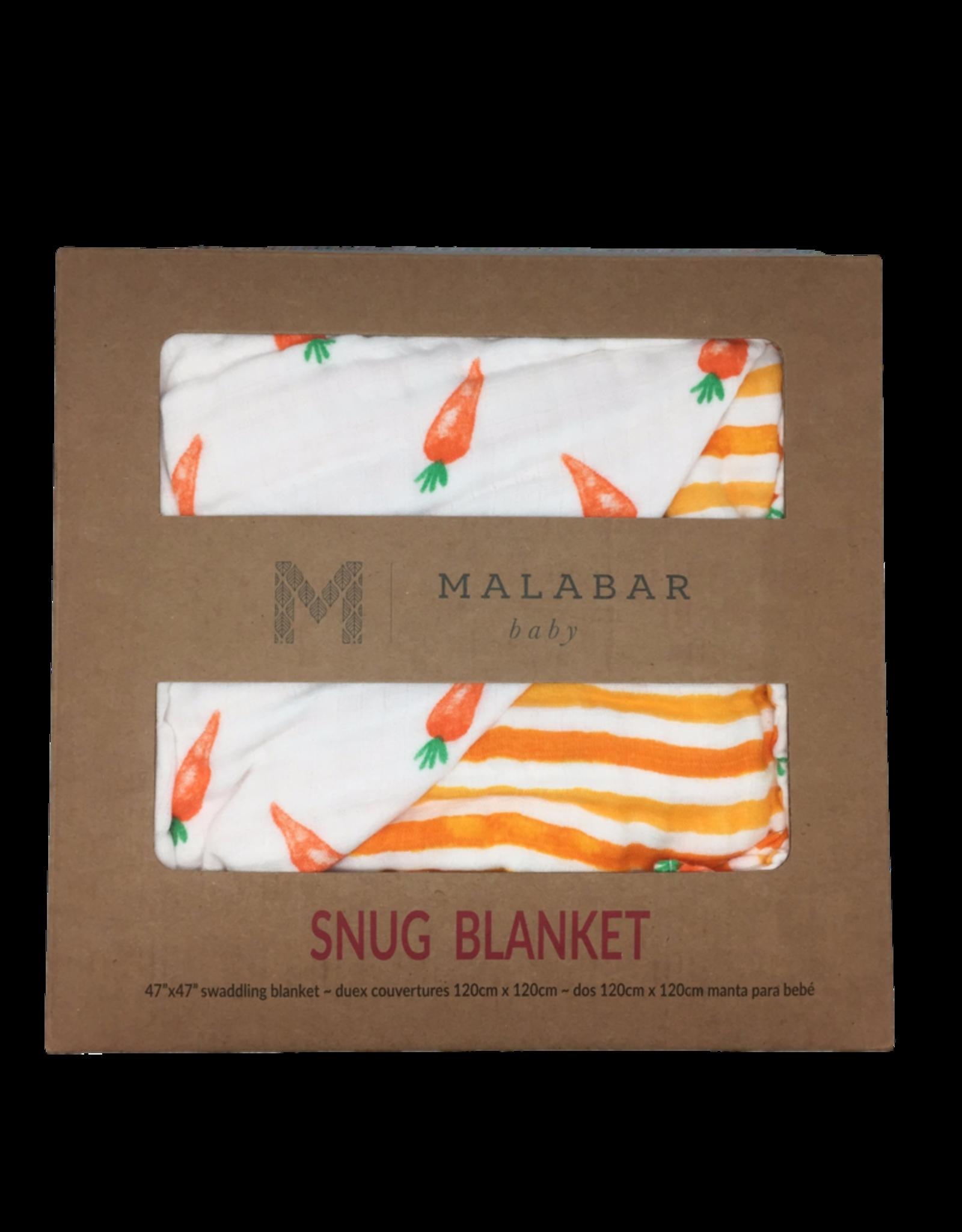 Malabar Baby Organic Baby Blanket (carrot) | Malabar Baby