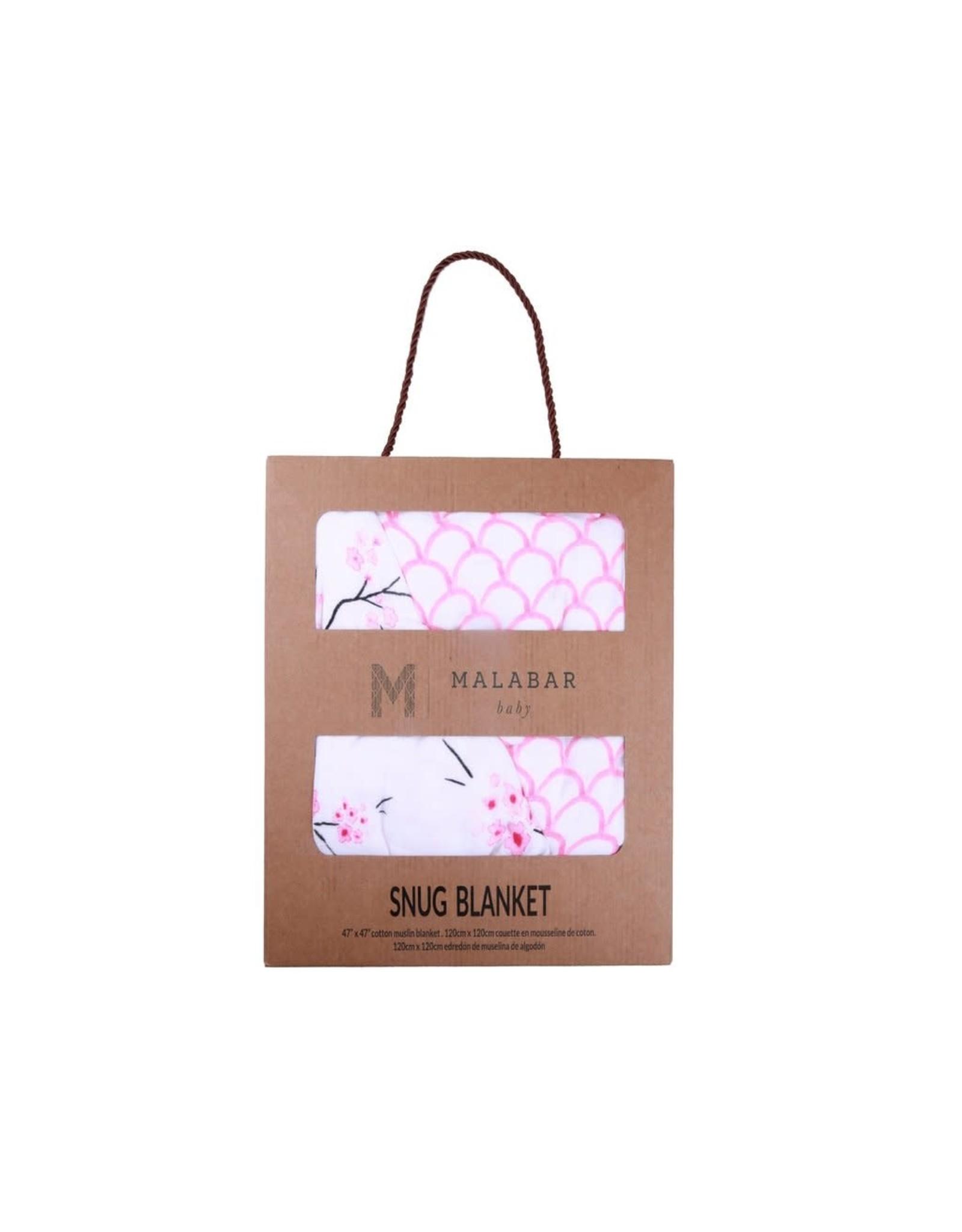 Malabar Baby Organic Baby Blanket (cherry blossom) | Malabar Baby