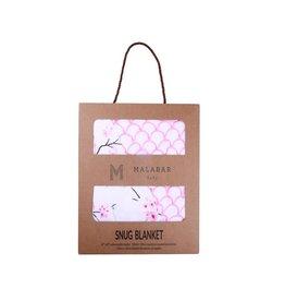 Malabar Baby Organic Baby Blanket (cherry blossom)