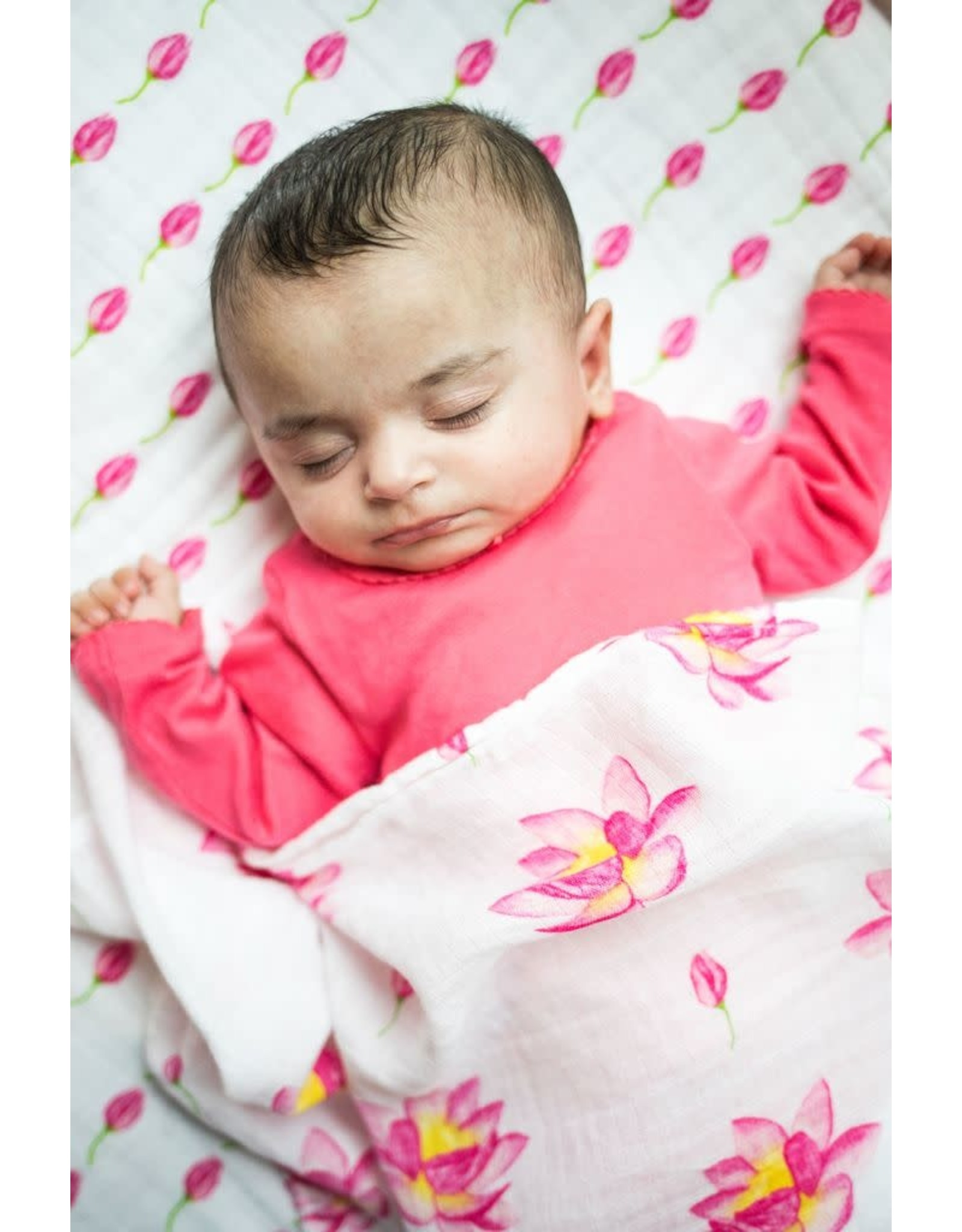 Malabar Baby 2 Pack Organic Cotton Swaddle (enchanted garden) | Malabar baby