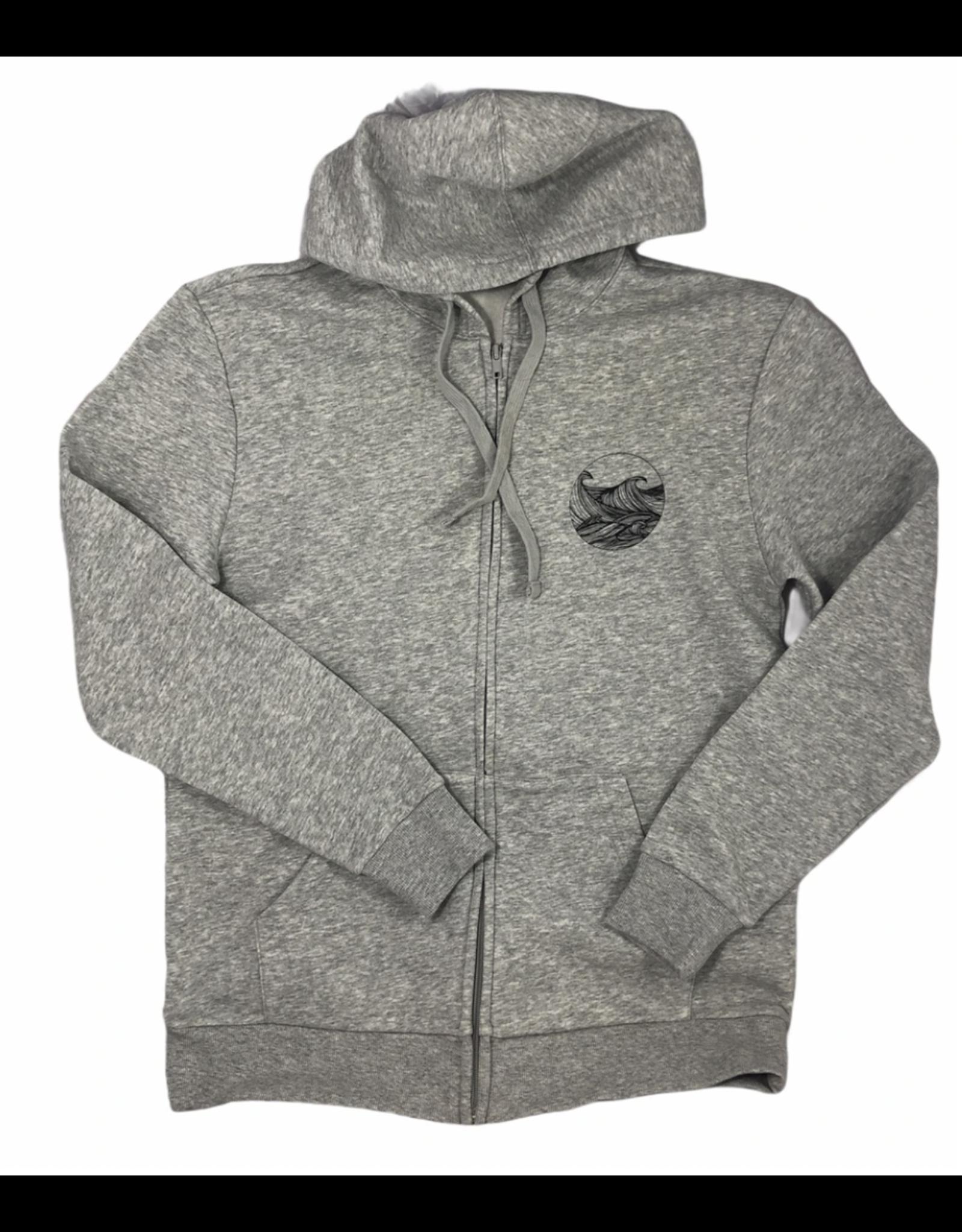 Frost + Fur Adult Zipper Hoodie Waves   Frost + Fur