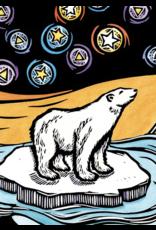 Evon Zerbetz Matted art card polar bears starry night  | Evon Zerbetz