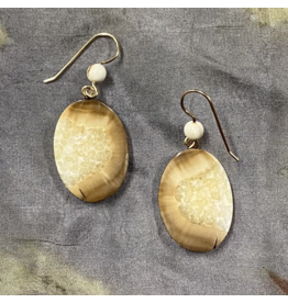 Johnny Ellis Fossilized Ivory Earrings