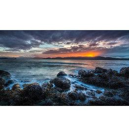 Frank Lynn Pierce Sunset and Rocks
