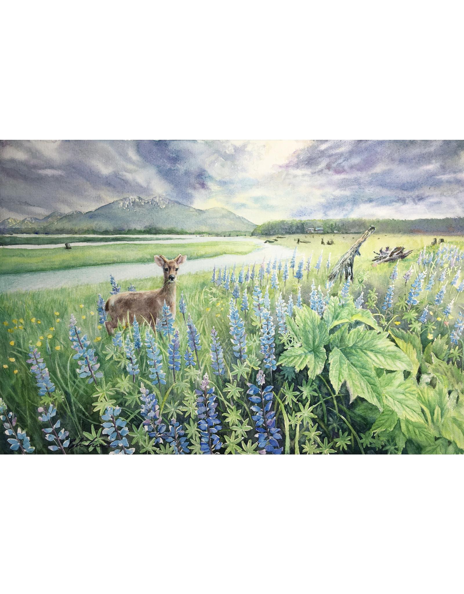 Chihiro Pierce Wild Meadow (framed original)   Chihiro Pierce