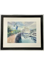 Chihiro Pierce Port of Juneau (framed original) | Chihiro Pierce
