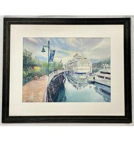 Chihiro Pierce Port of Juneau (framed original)