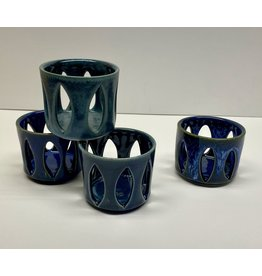 Five Finger Pottery Tea Light Luminary