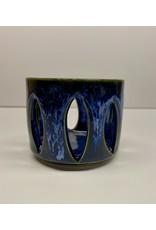 Five Finger Pottery Tea Light Luminary   Five Finger Pottery