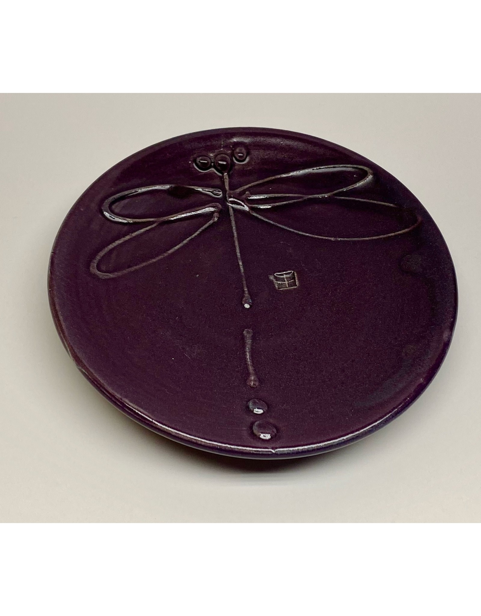 Five Finger Pottery Medium Plate (dragonfly)   Five Finger Pottery