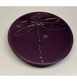 Five Finger Pottery Medium Plate (dragonfly)