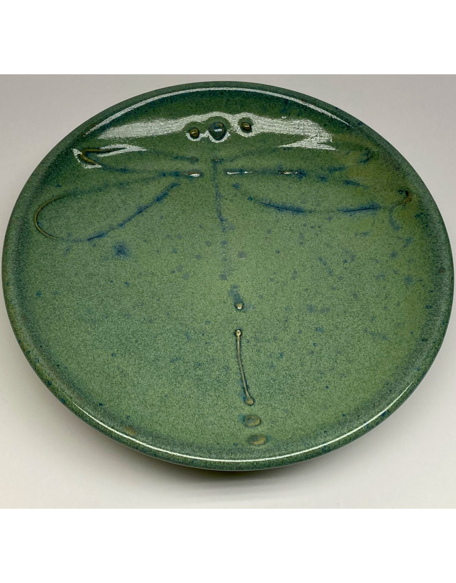 Five Finger Pottery Large Plate (dragonfly)   Five Finger Pottery