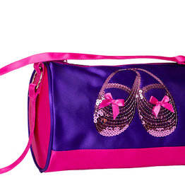 Horizon Satin & Sequins Duffel Purple