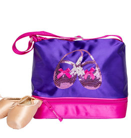 Horizon Satin & Sequins Gear Tote Purple