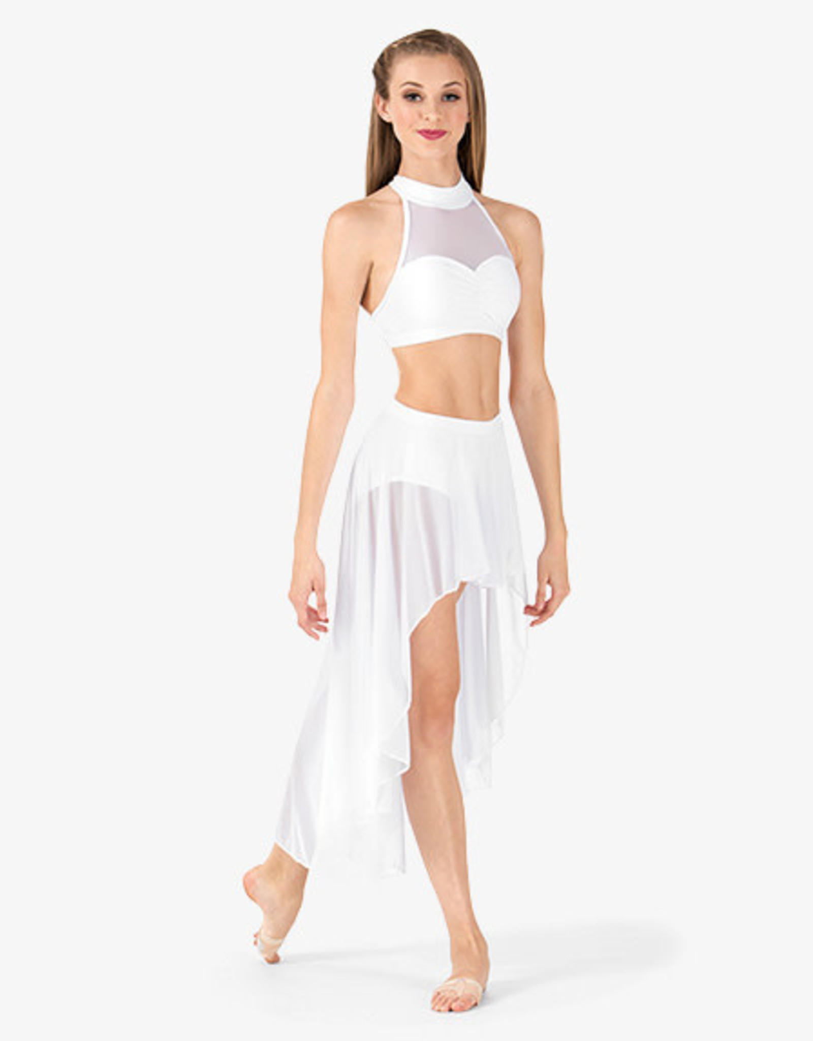 Body Wrappers Body Wrappers Crop Top With Mesh On Back BWP9027