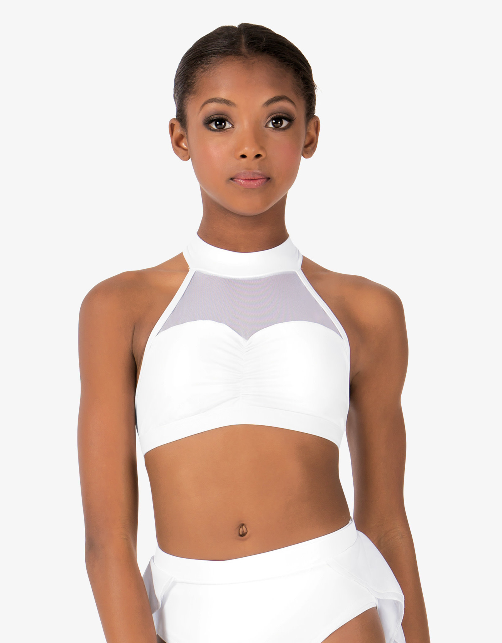 Body Wrappers Body Wrappers Crop Top & Brief  With Mesh On Back BWP9027