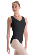 Motionwear Motionwear Pinch Front Vback Seamed Leotard  2176 Adult Small Raspberry