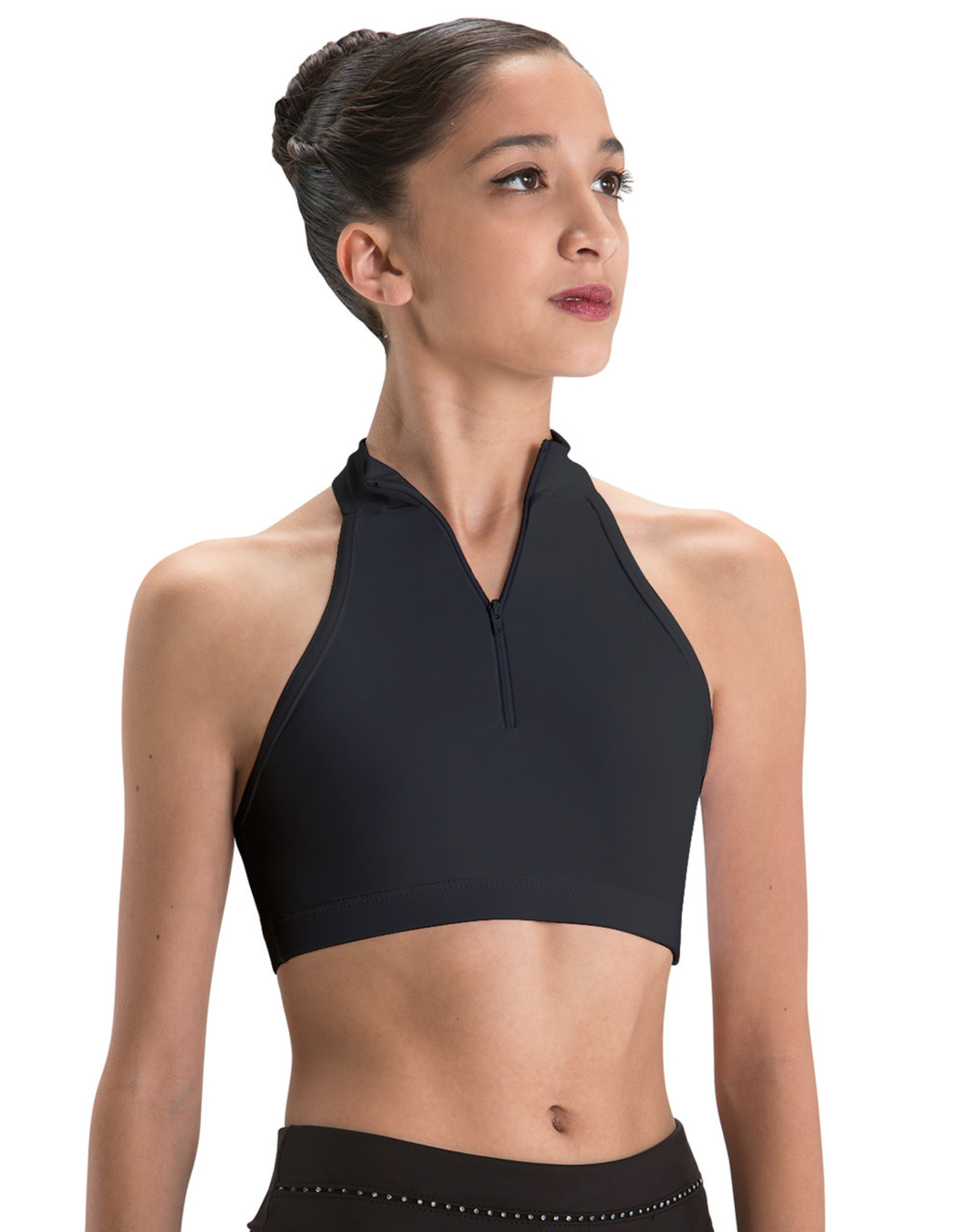 Motionwear Motionwear Adult  Zip Front Halter Bra Top 3045