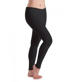 Motionwear Motionwear Flat Waist Legging Ankle Length 7129 Petite Adult Black