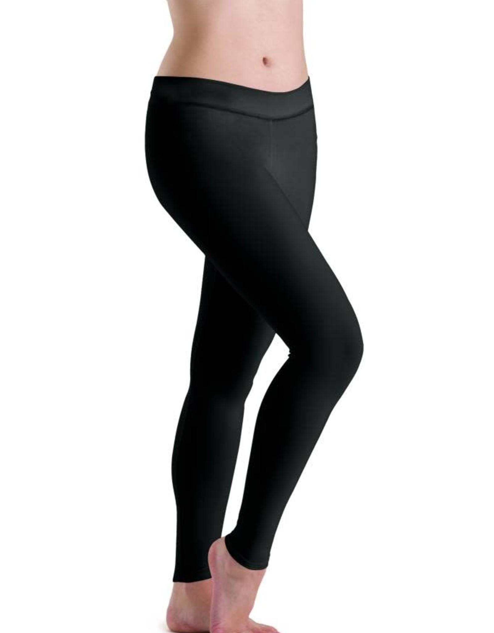 Motionwear Motionwear Flat Waist Legging Ankle Length 7129 Petite Adult Black