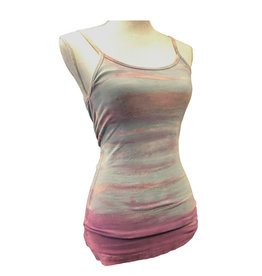 Hard Tail Hard Tail Long Sport Bra Tank Rainbow Horizon Small