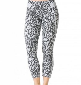 Hard Tail Hard Tail Leopard Print Crop Leggings LE011