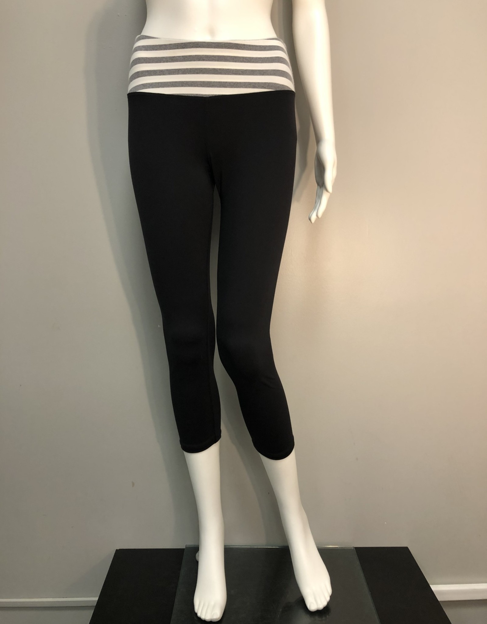 Hard Tail Hard Tail Contrast Flat Pant Black With White And Gray Band
