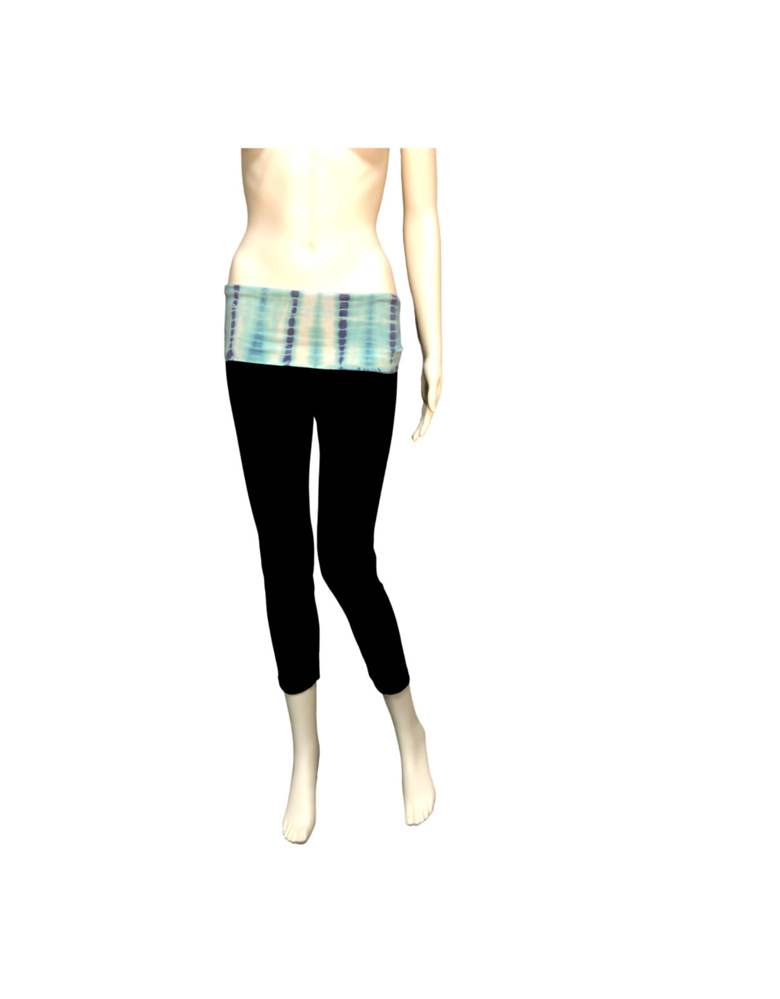 Hard Tail Hard Tail Roll Down Tie-Dye Waist Straight Leg Crop