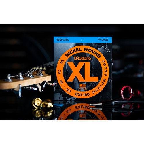 D'Addario D'Addario Nickel Wound Bass Strings Medium 50-105 Long Scale
