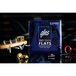 GHS GHS Stainless Steel Long Scale Medium Flatwound Bass Strings