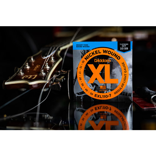 D'Addario D'Addario Nickel Wound XL Regular Light 7-String Electric Guitar Strings 10-59