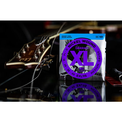 D'Addario D'Addario Nickel Wound XL Medium Blues-Jazz Rock Electric Guitar Strings 11-49