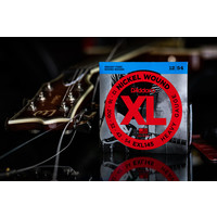 D'Addario Nickel Wound XL Heavy w/Plain 3rd Electric Guitar Strings 12-54