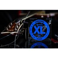 D'Addario Chromes Flatwound Electric Guitar Strings Light 12-52