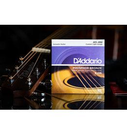D'Addario D'Addario Phosphor Bronze Acoustic Guitar Strings Custom Light 11-52