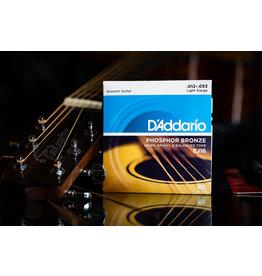 D'Addario D'Addario Phosphor Bronze Acoustic Guitar Strings Light 12-53