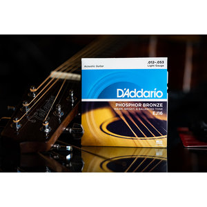D'Addario D'Addario Phosphor Bronze Acoustic Guitar Strings Light 12-53