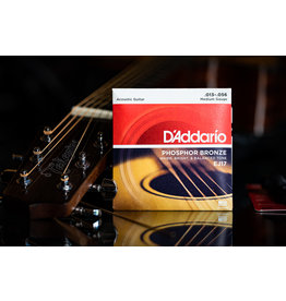 D'Addario D'Addario Phosphor Bronze Acoustic Guitar Strings Medium 13-56