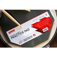 """Evans Reel Feel Practice Pad 12"""" 2-SIDED STANDARD PAD"""