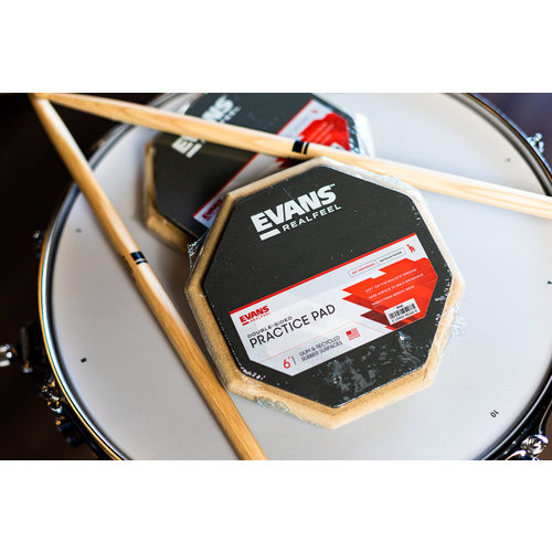 """Evans RealFeel 6"""" Practice Pad - 2-sided Speed & Workout Pad"""