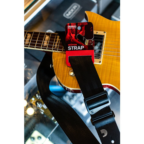 D'Addario 50mm Seatbelt Guitar Strap - Black