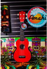 Amahi Amahi Dark Red Penguin Soprano Ukulele