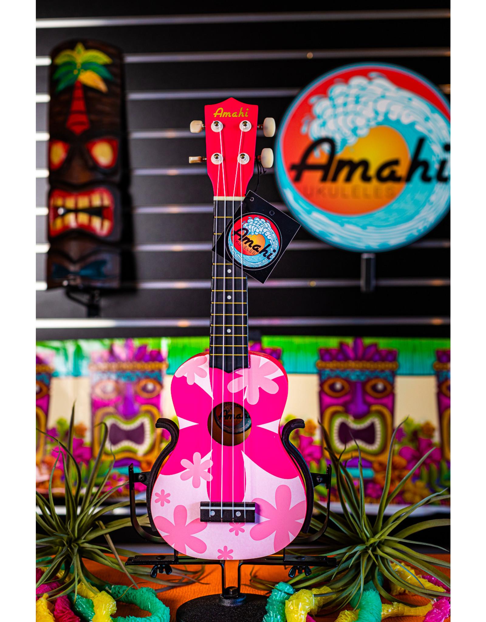 Amahi Amahi Pink Flower Design Ukulele