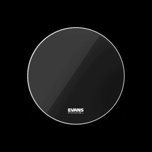 "Evans 18"" EQ3 NO PORT RESO BLACK - Bass Drum Head"