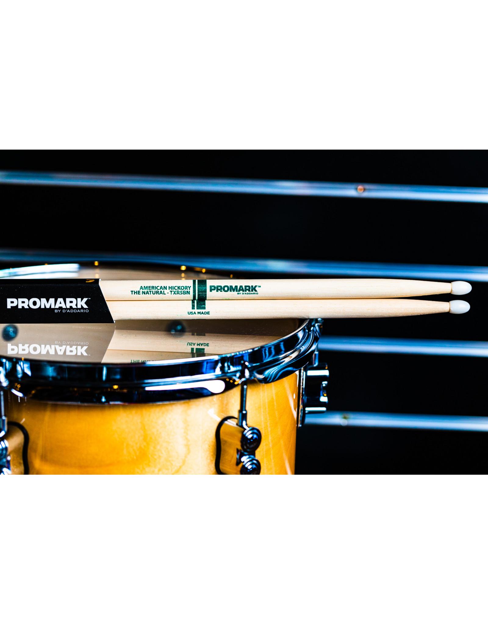 Promark Promark Classic Natural Hickory 5B Nylon Tip Drum Sticks