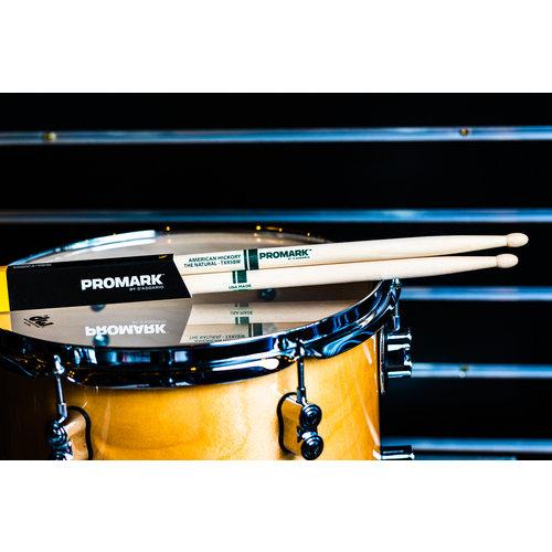 Promark Promark Classic Natural Hickory 5B Wood Tip Drum Sticks